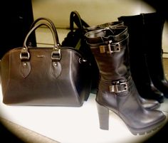 What is you style?Albano's amphibia in black calfskin with bag Albano