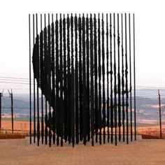 Work of Marco Cianfanelli. A sculpture of former South African President Nelson Mandela, is erected on 4 August 2012 in Howick, 90 kms South of Durban, commemorating the anniversary of Mandela's capture by the apartheid police. Nelson Mandela, Arte Mandela, Street Art, Steel Columns, Spiegel Online, South African Artists, Kwazulu Natal, Poster S, Sculptures