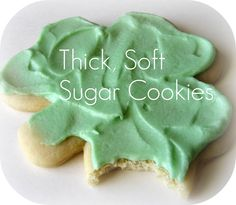Thick, Soft Sugar Cookies. GO IRISH!
