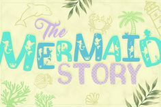The Mermaid Story Font Duo + Extras By Anastasia Feya Fonts & SVG Cut Files