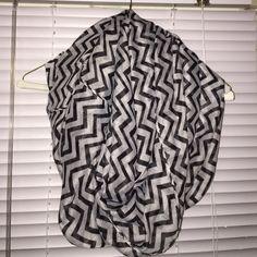 black & white chevron infinity scarf black & white chevron infinity scarf - light weight, perfect trendy statement piece Accessories Scarves & Wraps