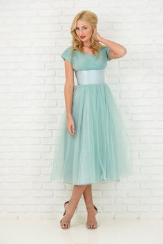 Vintage 50s Mint Green Cocktail Party Dress Satin Tulle Midi Full XXS XS 3359 by thekissingtree on Etsy https://www.etsy.com/listing/218003931/vintage-50s-mint-green-cocktail-party