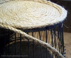 Make a rope basket. I want to make a huge one for the living room to store blankets,etc in.
