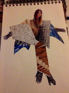 Collage Textile Art, Collage, Ruffle Blouse, Textiles, Book, Women, Fashion, Moda, Fashion Styles