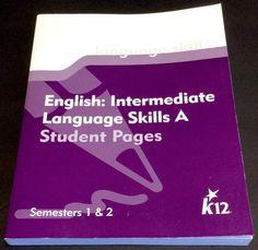 K12 Language Skills Grade 5 Student Pages English Intermediate Level A Sem 1 & 2 #WorkbookStudyGuide