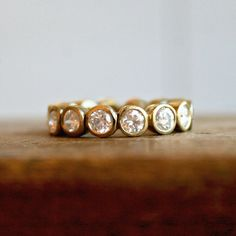 Sarah Perlis Jewelry — .5 carat bezeled eternity band