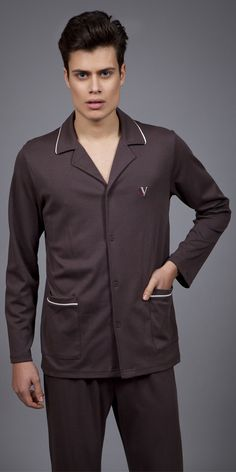 Men's Pyjamas Interlock 1731 | Pyjamas| Vamp! Mens Pjs, Winter House, Pyjamas, Chef Jackets, Country, Luxury, How To Wear, Collection, Fashion