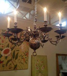 Item #L36 - French Wooden Chandelier c.1900 | Antique Lighting ...