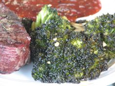This delicious grilled side dish will add nutrition and flavor to any meal. Recipe is from Light and Tasty's April/May 2005 issue. I love broccoli anyway, and grilling veggies always kicks them up a notch.