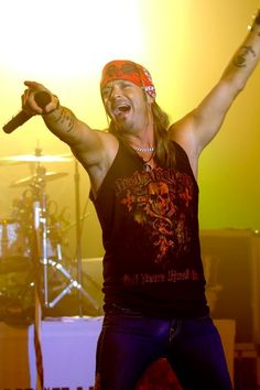 Bret Michaels (He's CUTE here! ;) And, I LOVE that shirt! =D )