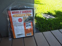 Miracle Sandbags are sandbags you have on hand that take away the time and panic from filling normal sandbags. They inflate within 4-6 minutes and can be reused. Contents is environmentally friendly. A must have for extreme weather conditions or flash flooding occurs.