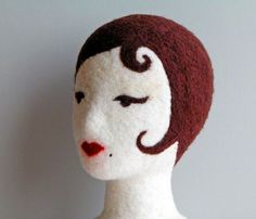 Pattern for nifty needle felted mannequin heads.  By The Handwork Studio.
