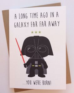 diy birthday card for husband Personalised Handmade Star Wars Birthday Card Darth Vader (quirky Funny Geeky) for sale online 50th Birthday Cards, Birthday Cards For Boyfriend, Birthday Cards For Friends, Bday Cards, Star Wars Birthday, Handmade Birthday Cards, Funny Husband Birthday Cards, Starwars Birthday Card, Birthday Card For Teacher