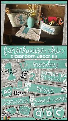 Farmhouse Chic Classroom Decor Kit on Teachers Pay Teachers -- Channel your inner Joanna Gaines and decorate your classroom for back to school with this classroom decoration themed kit! 5th Grade Classroom, Classroom Setup, Classroom Design, Future Classroom, School Classroom, Classroom Organization, Stars Classroom, Classroom Management, Classroom Decor Themes