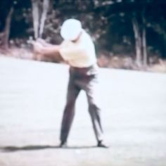 "Notice Swing ""FLATTENS"" as the Forward Swing Begins! --- ""PERFECT HOGAN ACTION!"""