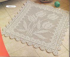 Mil ideias em croche: Olhem esse tapete que encontrei na net lindo né vamos começar a tecer amigas rsrsrs...