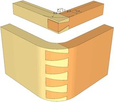 Impossible looking dovetail joint