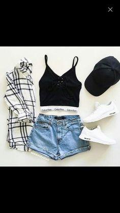 Calvin Klein bra with shorts