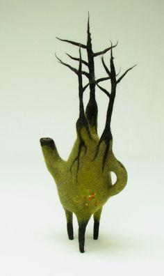 Felt Soft Sculpture By ANDREA GRAHAM - Feltmaker/Fiber Artist via  'andrea-graham.blogspot'★♥★