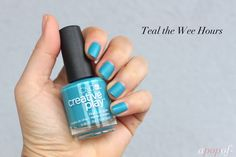 Teal the Wee Hours, CND Creative Play Nail Lacquer Sunset Bash collection