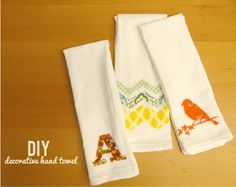 Using a Silhouette for Cutting with Interfacing - Decorative Hand Towel