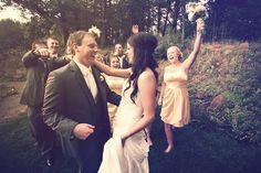 Bride & Groom with their wedding party // #weddingphotographerminnesota #minnesotawedding Photo by Benjamin.