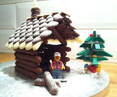 I spent most of my Sunday making a log cabin from chocolate Fingers and Buttons and much melted chocolate. Chocolate Log, Melting Chocolate, Christmas Is Coming, Gingerbread Cookies, Cake Recipes, Desserts, Food Cakes, Buttons, Melt Chocolate
