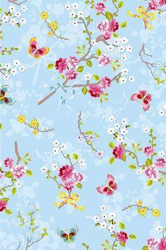 PiP Studio Chinese Rose Blue wallpaper