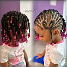 Cornrows For Little Girls, Little Girls Natural Hairstyles, Easy And Beautiful Hairstyles, Toddler Braided Hairstyles, Little Girl Braid Hairstyles, Kids Curly Hairstyles, Baby Girl Hairstyles, Braids For Kids, Kid Braids
