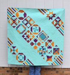 Vice Versa BOM Quilt Finish. | Pattern in Sister Sampler Quilts