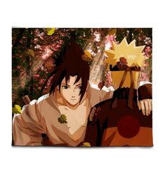 Naruto Tapestry Uchiha Sasuke and Naruto together