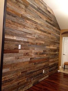 Reclaimed Wood Accent Wall Palette Entryway Bedroom Fireplace Walls Shelves Design Diy Pallet Ideas