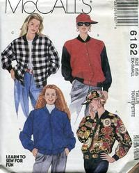 c909b0607b2 Loose Fitting Bomber Jacket Varsity Jacket Letterman McCalls 6162 Sewing  Pattern Size Bust by sandritocat on Etsy