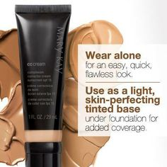 Start your Saturday morning with some seriously flawless makeup. Mary Kay® CC Cream provides the perfect lightweight coverage for a natural looking complexion. http://www.marykay.com/skatzung/en-US/Mary-Kay-CC-Cream-Sunscreen-Broad-Spectrum-SPF-15-/Medium-to-Deep/111652.partId