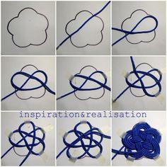 DIY Nautical Nylon Cord Knot Coasters Tutorial 1