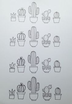 A4 Cacti by RoseandWillowPaperCo on Etsy