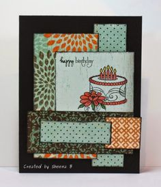 #handmade #birthday #card featuring patterned papers from @beauthentique and stamps from @vervestamps