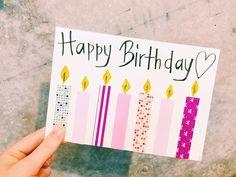 DIY♪ マスキングテープで作った誕生日カード(ろうそく)
