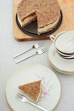 Macademia en caramel cheesecake zonder suiker en zonder zuivel