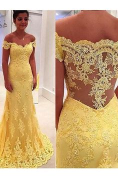 Outlet Distinct Prom Dresses Lace Elegant Mermaid Yellow Lace Off Shoulder Long Prom Dress Prom Dress, Prom Dresses Lace, Prom Dresses Yellow, Long Prom Dresses, Mermaid Prom Dresses Prom Dresses 2019 Prom Dresses 2016, Cheap Prom Dresses, Bridesmaid Dresses, Party Dresses, Prom Gowns, Dresses Dresses, Long Dresses, Ball Gowns, Bride Dresses