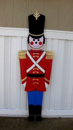 Toy Soldier Christmas  yard Display life size 5Ft by RavensNest28, $135.00