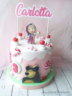 zuccherofondente: Masha and the bear cake! Puppy Birthday Cakes, Birthday Cake Girls, Bear Birthday, Masha Cake, Masha Et Mishka, Bolo Cake, Bear Cakes, Cake Decorating Tips, Girl Cakes
