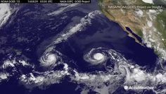 NASA tracks double hurricanes over the Pacific Ocean, August 31, 2016.