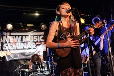 Top 3 Artist on the Verge Catey Shaw performing at @The Studio At Webster Hall during the #NMS2013 Opening Night Party