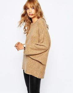 Vila | Vila Knitted Cape Jumper at ASOS