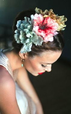 Bride's updo bridal hair ideas Toni Kami Wedding Hairstyles ♥ ❶ wedding hairstyle with flower crown halo corona