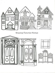 Examples of Victorian Homes Handout.....art element:Shape