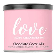 Hot Chocolate - love Happy Valentine& Day Hot Chocolate Drink Mix - valentines day gifts love couple diy personalize for her for him girlfriend boyfriend Valentines Day Chocolates, Valentine Chocolate, Valentines Day Party, Gifts Love, Pink Gifts, Love Girlfriend, Boyfriend, Cocoa, Happy Hearts Day