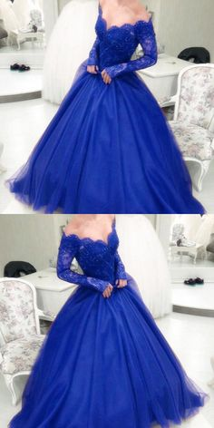 royal blue ball gowns pro dress,long sleeves prom dress,ball gown wedding dress,ball gowns quinceanera dresses