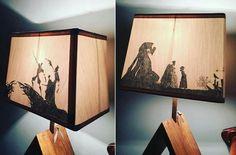 """Lampe ombre chinoise """"Le conte des trois fréres"""""""